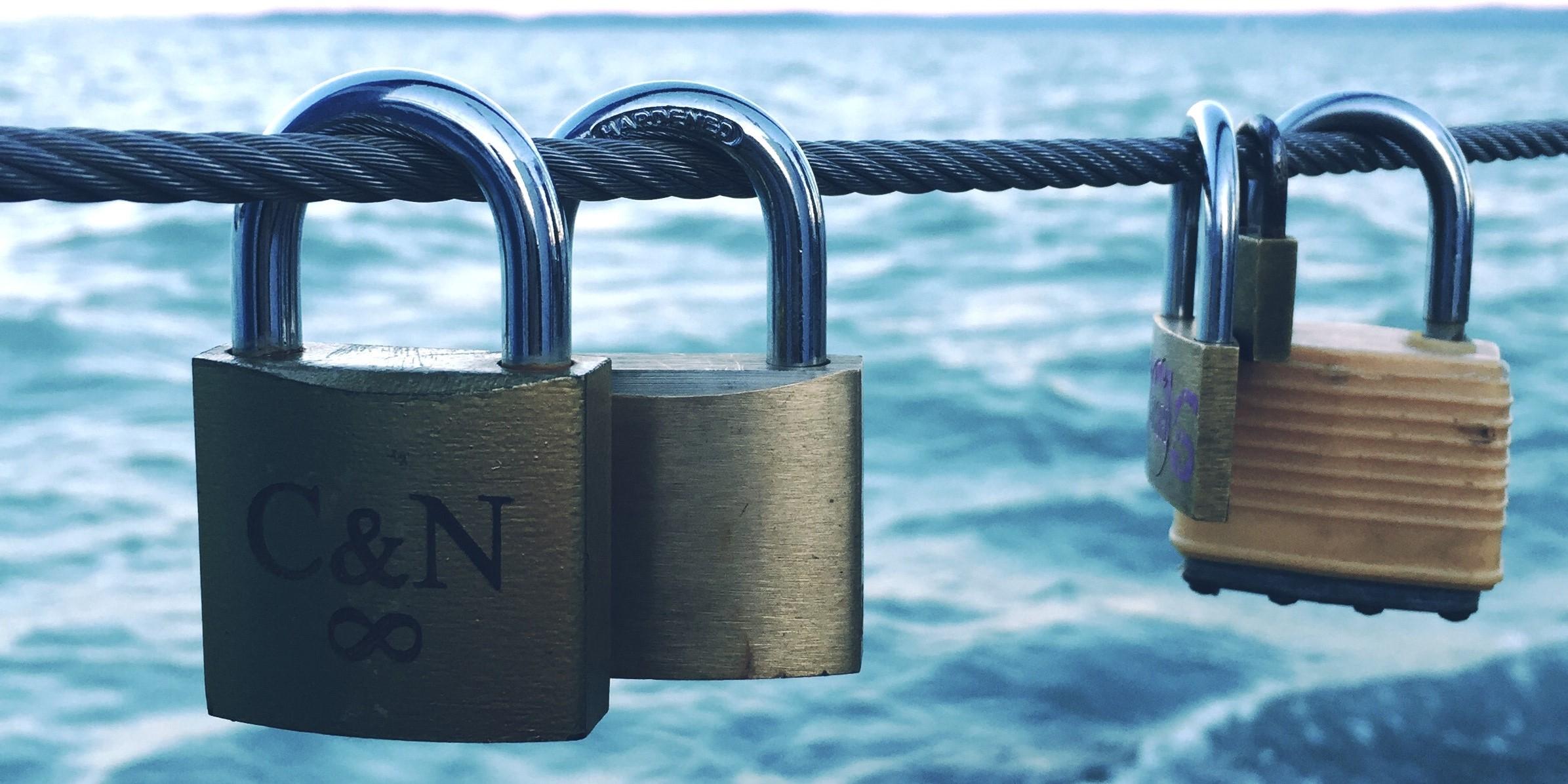 Loving the locks at            Lake Daylesford