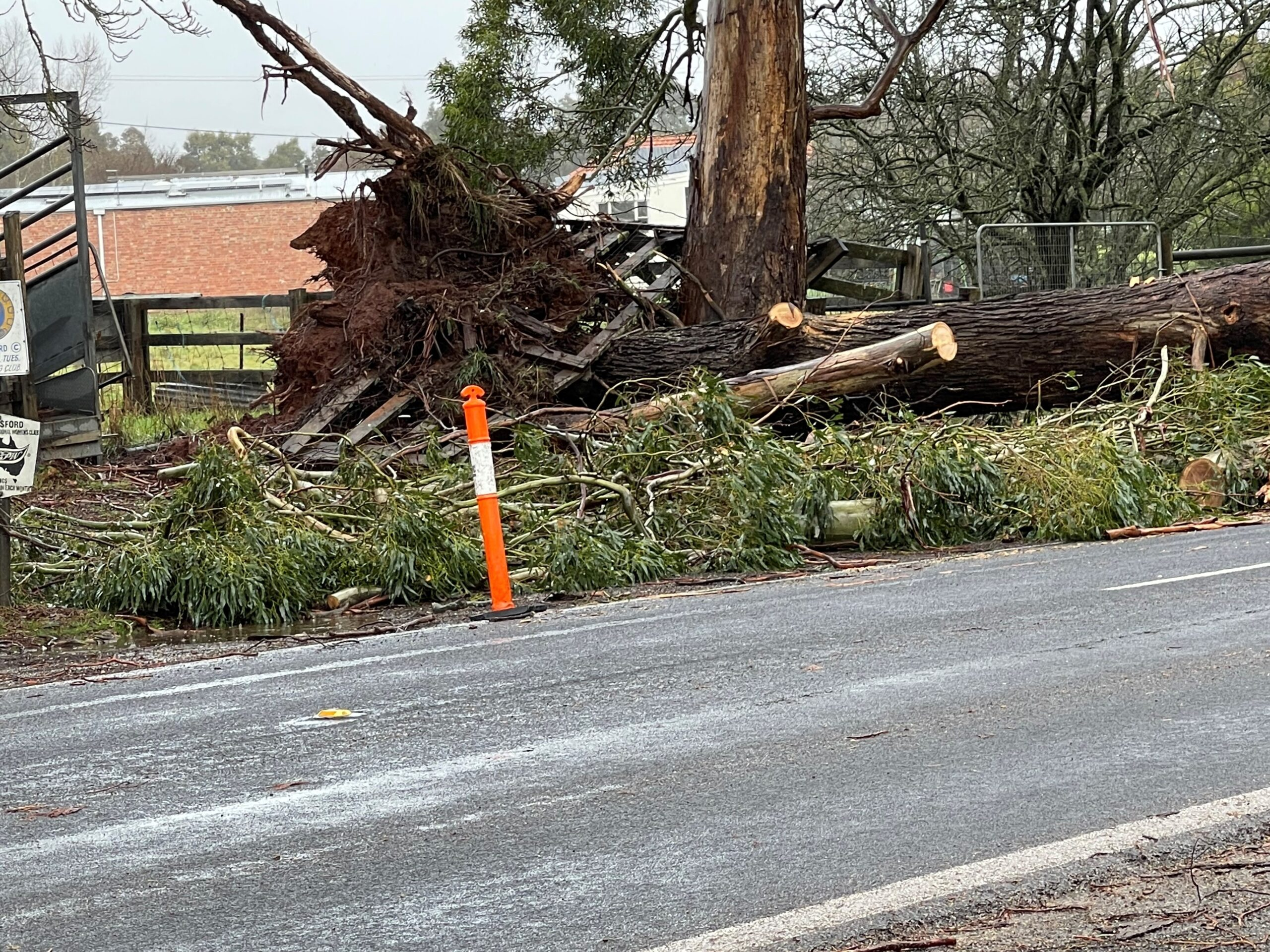 Storm damage and relief                               in sight for Trentham
